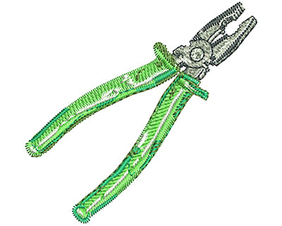Embroidery Design: Pliers Med 2.60w X 2.50h