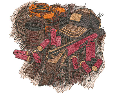 Embroidery Design: Shooters Table Lg 6.01w X 5.78h