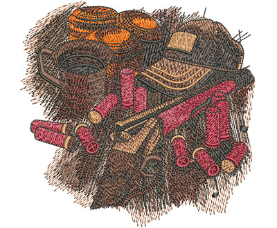 Embroidery Design: Shooters Table Med 5.00w X 4.84h