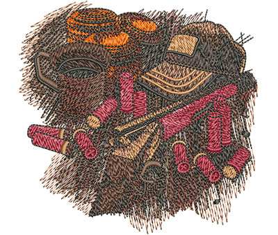 Embroidery Design: Shooters Table Sm 3.98w X 3.90h