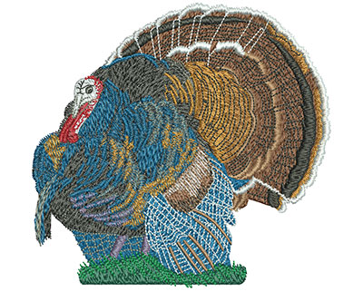 Embroidery Design: Turkey Time Lg 5.02w X 4.80h