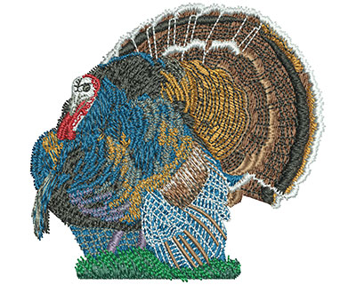 Embroidery Design: Turkey Time Sm 3.29w X 3.12h