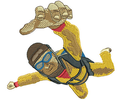Embroidery Design: Skydive In Your Face Lg 4.28w X 3.89h
