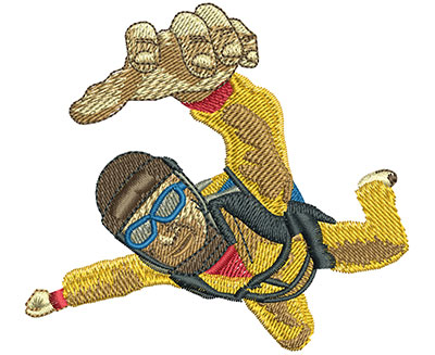 Embroidery Design: Skydive In Your Face Sm 3.28w X 2.98h