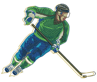 Embroidery Design: Funky Hockey Med 4.37w X 3.45h