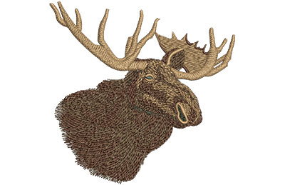 Embroidery Design: Canadian Moose Only Lg 4.70w X 4.69h