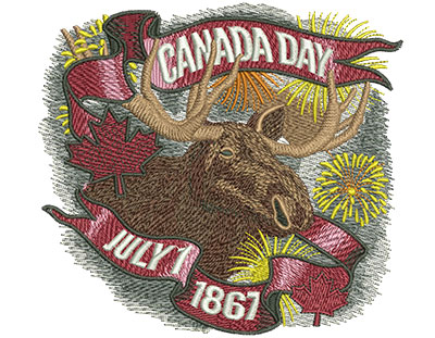 Embroidery Design: Canadian Moose Lg 5.45w X 5.05h