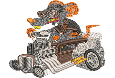 Embroidery Design: Rat Rod Med 3.98w X 3.24h