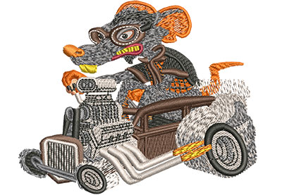 Embroidery Design: Rat Rod Sm 3.49w X 2.84h