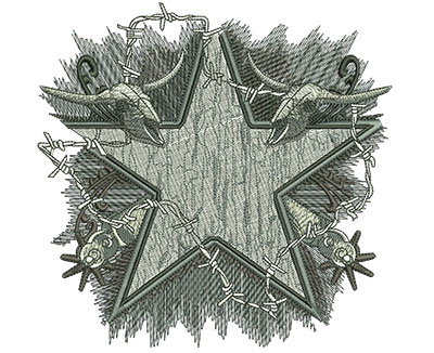Embroidery Design: Texas Barbwire Background Lg 6.14w X 6.07h