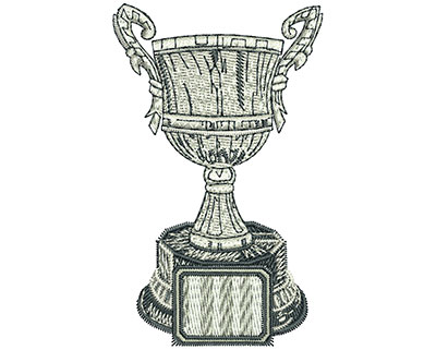 Embroidery Design: Champion Trophy Lg 3.64w X 5.51h