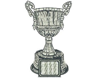 Embroidery Design: Champion Trophy Med 1.86w X 4.03h