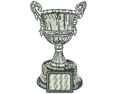 Embroidery Design: Champion Trophy Sm 1.54w X 3.51h