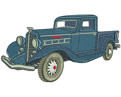 Embroidery Design: REO Speedwagon Truck Lg 4.51w X 2.57h