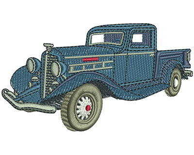 Embroidery Design: REO Speedwagon Truck Med 3.76w X 2.14h