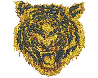 Embroidery Design: Fire Tiger Lg 4.19w X 4.48h