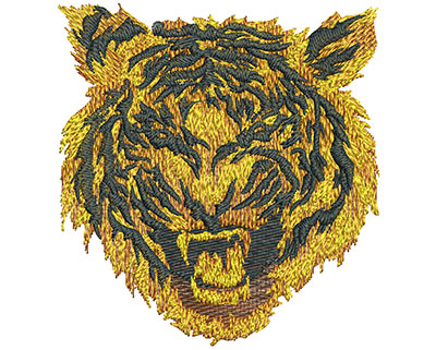 Embroidery Design: Fire Tiger Med 3.72w X 3.98h