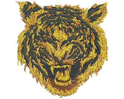 Embroidery Design: Fire Tiger Sm 3.28w X 3.49h