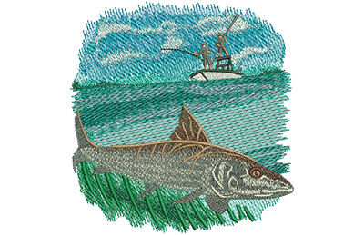 Embroidery Design: Bonefish Lg 4.74w X 5.01h