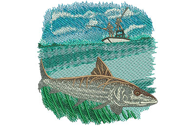 Embroidery Design: Bonefish Med 4.28w X 4.48h