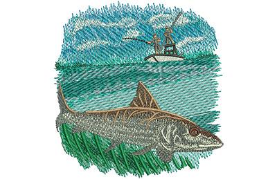 Embroidery Design: Bonefish Sm 3.79w X 4.04h