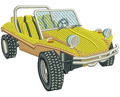 Embroidery Design: Dune Buggy Lg 3.51w X 2.53h