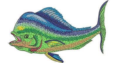 Embroidery Design: Mahi Mahi Side View Lg 6.00w X 3.77h