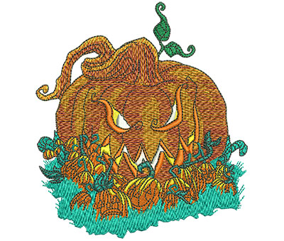 Embroidery Design: Pumpkin Patch Med 4.00w X 4.46h