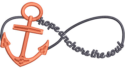 Embroidery Design: Hope Anchors Med 6.58w X 3.43h
