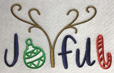 Embroidery Design: Joyful Lg 7.52w X 4.65h