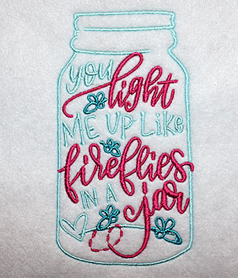 Embroidery Design: You Light Me Up Lg 3.07w X 5.64h