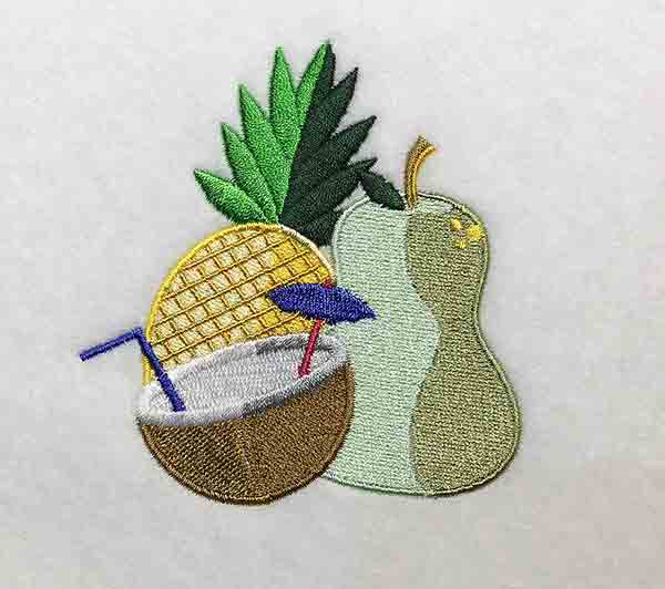Embroidery Design: Summer Time Lg 3.78w X 4.05h