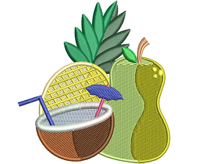 Embroidery Design: Summer Time Med 3.31w X 3.54h