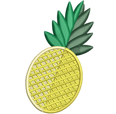 Embroidery Design: Pineapple Sm 1.60w X 2.64h