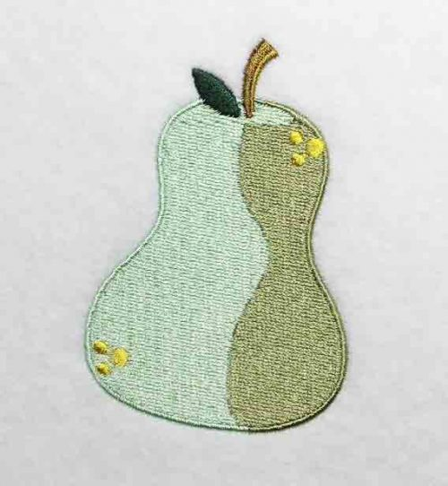 Embroidery Design: Pear Lg 2.69w X 4.01h