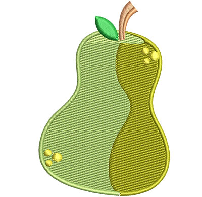 Embroidery Design: Pear Med 2.35w X 3.51h