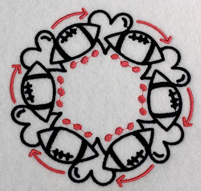Embroidery Design: Monogram Football Lg 5.52w X 5.52h