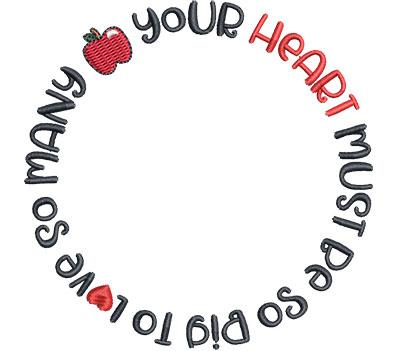 Embroidery Design: Big Heart Sm 4.01w X 4.01h