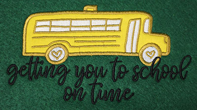 Embroidery Design: Getting You School Applique Lg 7.52w X 4.18h