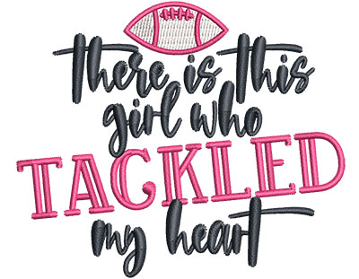 Embroidery Design: Girl Tackled Heart Sm 3.36w X 2.83h