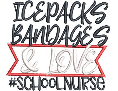 Embroidery Design: School Nurse Sm Applique 4.21w X 3.64h