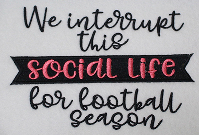 Embroidery Design: Interrupt For Football Lg 7.50w X 5.10h