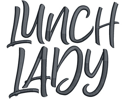 Embroidery Design: Lunch Lady Med 5.13w X 4.50h