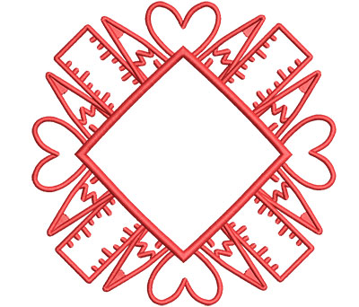 Embroidery Design: Pencil Mandala Lg 5.53w X 5.53h