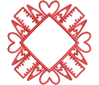 Embroidery Design: Pencil Mandala Sm 3.53w X 3.53h