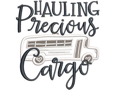 Embroidery Design: Hauling Precious Cargo Applique Sm 3.57w X 3.84h