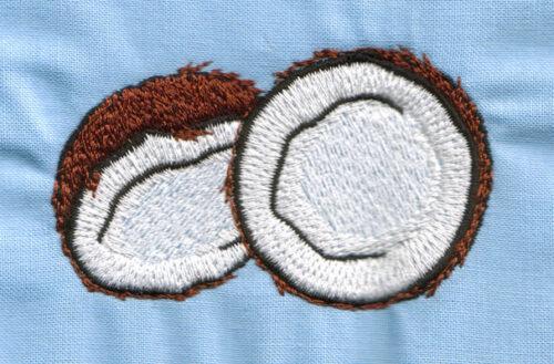 """Embroidery Design: Open Coconut (small)2.96"""" x 1.79"""""""
