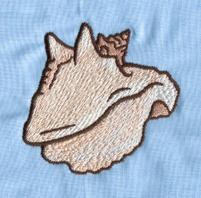 """Embroidery Design: Conch Shell (small)2.77"""" x 2.93"""""""