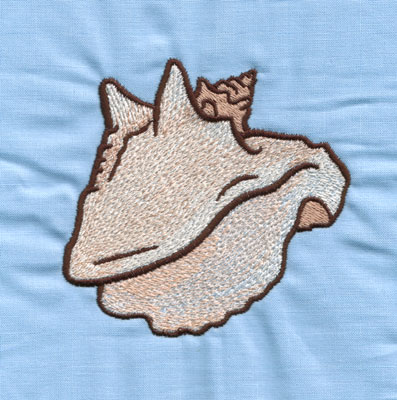 """Embroidery Design: Conch Shell (large)3.74"""" x 3.95"""""""