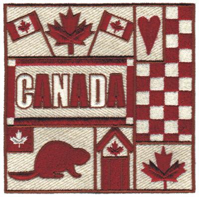 "Embroidery Design: Canada Collage4.80"" x 4.72"""